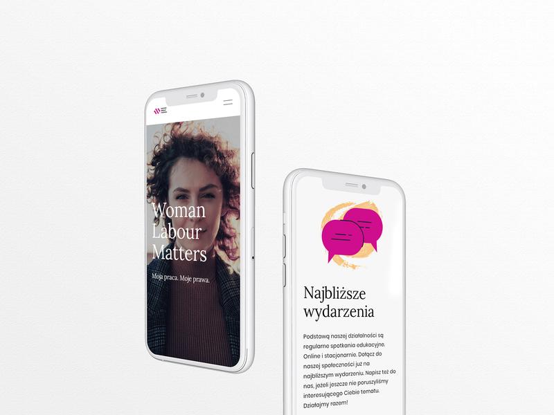 Woman Labour Matters - Mobile women empowerment mobile design uiux ux ui branding webdesign