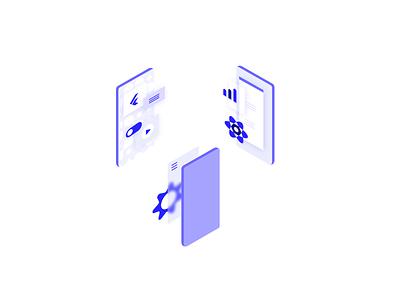 Illustrations for Tech Company | Part 2 tech illustrator vector isometric illustration isometric design illustration