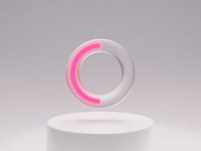 Loading icon 3D frosted glass loading bar loading icon animation ui animation ui blender after effects motion graphics 3d
