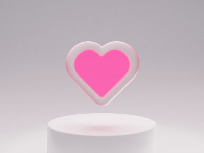 Fave it 💗3D motion graphics after effects neon frosted glass ui animation blender 3d animation 3d animation