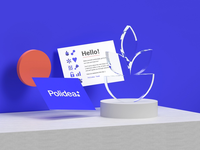 Welcome cards branding adobe dimension 3d print design