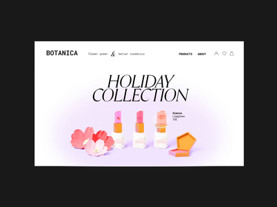 Botanica - Desktop animation blender ecommerce 3d after effects branding motion graphics animation