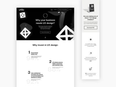 Landing page UX