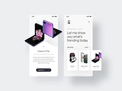 Gadgets App Exploration - Figma Freebie clean concept mobile figma app design minimal app creative ux design ui