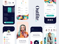 Outfitr UI Kit - Find your Style clothing login profile brands colors fresh outfit fashion app fashion app design app ux design creative clean mobile ui kit ui