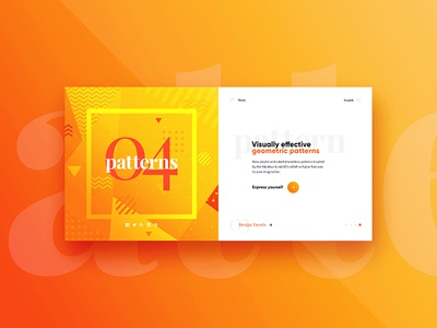 #04 Website Slider Concept website ux ui typography trends spacing slider design creative concept colors banner