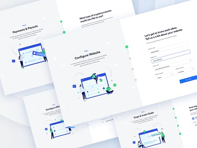 Wizard for Crypto Payments ux wizard steps ui web landing onboarding crypto design illustration dashboard flat