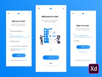 Dailyui #001 - Signup for chat app