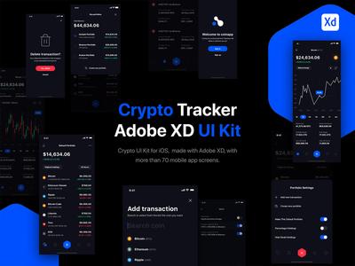 Crypto Portfolio Tracker UI Kit for iOS