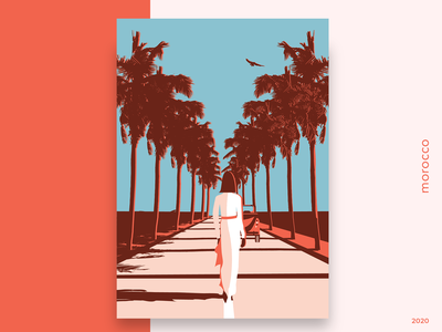 [004/20] morocco bold color color bold clean walking lane design poster car magazine cover malika favre minimal magazine vintage fashion palms morocco illustration