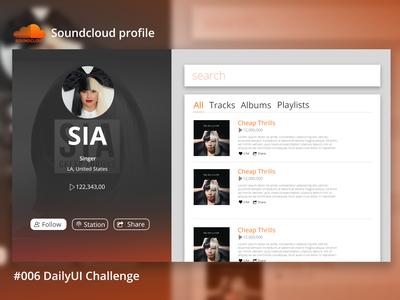 #006 DailyUI Challenge Profile Page