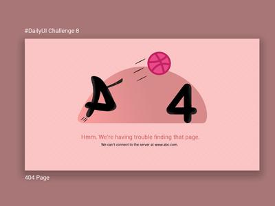 #DailyUI Challenge 8 404 page