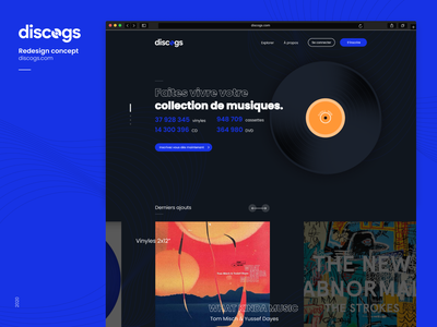 Discogs 💿  Redesign Concept website music interface webdesign web app logo challenge ux branding design ui