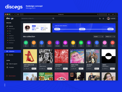 Discogs 💿  Redesign Concept music app music web branding logo interface challenge ux webdesign app ui design