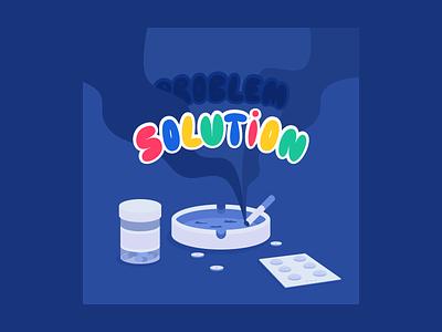 Lockdown disaster 💊 illustrator sketch smoking typography vector illustration