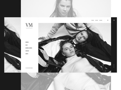 Main page VM page white black website web model main ux ui