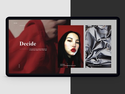Decide. ukraine kiev promo ux ui website fashion stylish photoshop red