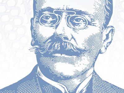 Ion Luca Caragiale romania currency engraved money poster vector