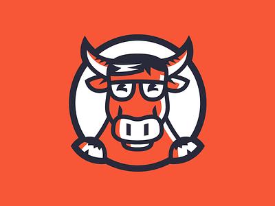 Nerdy Buffalo nerd designer developer geek animal illustration icon logo buffallo nerdy