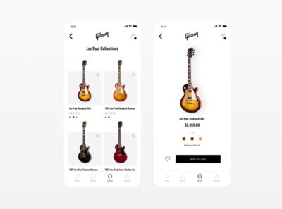 Guitar App - Gibson design guitar pick guitar les paul gibson guitarist app design app ux ui guitars
