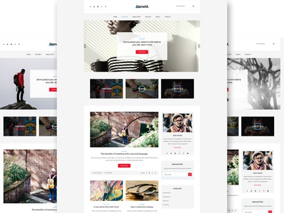 Donald - Creative and Clean Wordpress Blog Theme  travel life style fashion personal blogger vlog clean blog