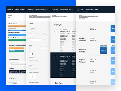 Agorize Design System system pattern ui ux ux design product design product styleguide design system