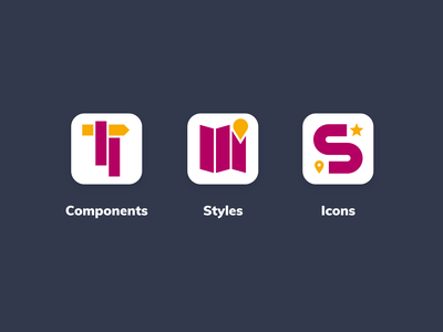 Roadtrip Design System tooling icons flat design systems design system branding design branding brand identity brand design brand identity icon design icon logotype logodesign logo design logo