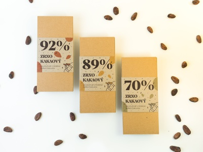 Zrno Kakaový — Matura project (part 01) 🍫 idea print design print composition illustration nature friendly cocoa mockup series project final dark wrap chocolate packaging recyclable reusable eco