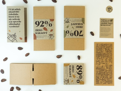 Zrno Kakaový — Matura project (part 02) 🍫 idea package print design print eco reusable recyclable packaging chocolate wrap dark final project series mockup cocoa nature friendly illustration composition