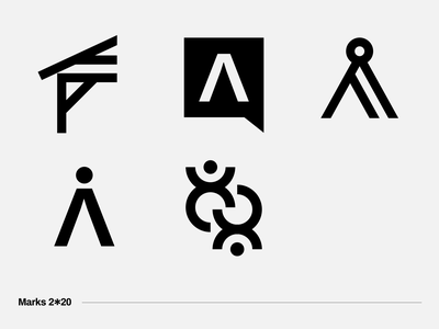 Logo Marks — 2020 ✔️ project campaign simple society people pictogram symbol minimal inspiration idea icon brand corporate identity mark logo