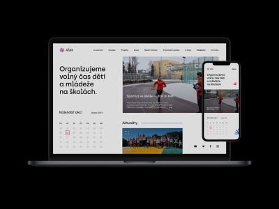 AŠSK — Web Design ⚽ modern school mark mockup symbol sport asociation design print ux idea project branding logo brand identity corporate