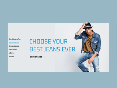 E-commerce jeans shop