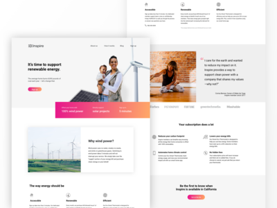 Clean Power Landing Page