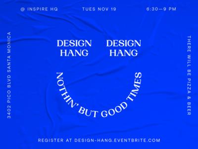 Inaugural Inspire Design Hang