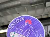 Radically transparent stickermule sticker
