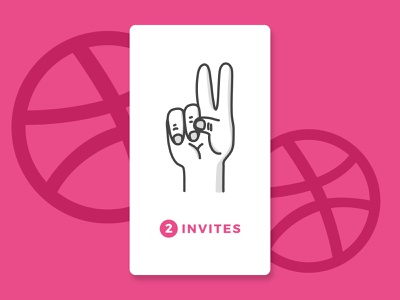 2 Dribbble Invites dribbble invite illustration