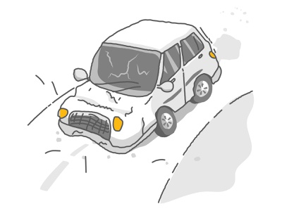 Car Crash art doodle godigit design illustration