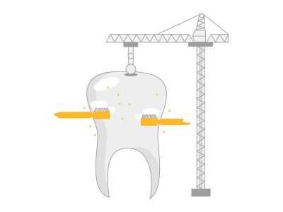Dental Health insurance amber toothbrush crane doodle godigit design illustration teeth tooth dental