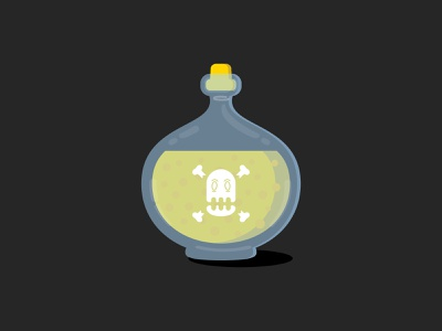 Bottle of Poison monday bottle design illustration motivational monday