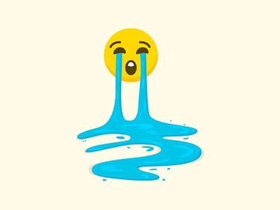 When you just let it go... Crying emoji emoji letitgo illustration