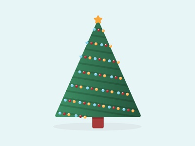 Merry Christmas illustration holidays santa claus xmas christmas tree christmas