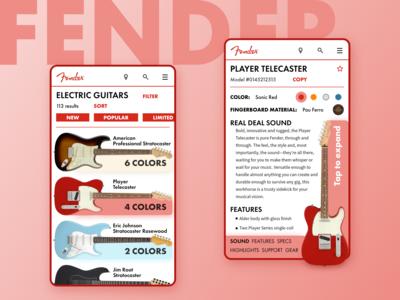 Fender online shop redesign v.1