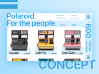 Polaroid monochrome concept