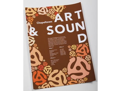 Chapeltown Art & Sound Poster Design bold music illustration print for promotional typography design poster carnival culture