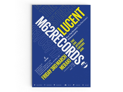 M62 Records Poster Design typography promotional print liverpool music illustration editorial design graphic bold art