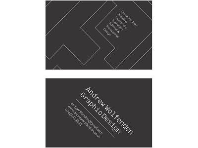 Self Branding Business Card artist illustration logo typography typographic type design designer graphic independant card branding business freelance