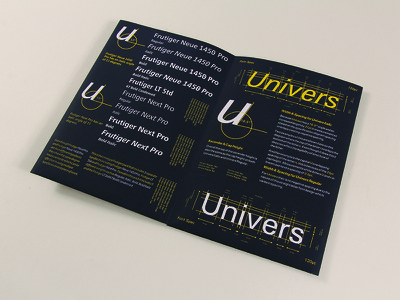 ISTD Publication graphic freelance design print avenir univers frutiger publication typographic typography type istd