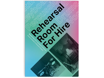 Typographic Rehearsal Room Flyer grid layout poster flyer design music graphic image typographie experimental type typographic