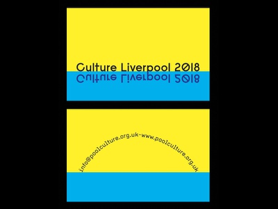 Culture Liverpool 2018 Business Card liverpool type typographic art design brand minimal typography print card business branding
