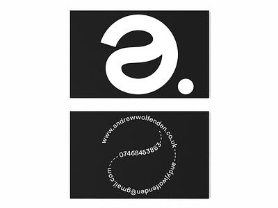 a.Wolfenden Studio Business Card typographic experimental promotional bold monochrome print design brand identity logo custom typography branding